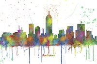 Indianapolis Indiana Skyline Multi Colored 1 Fine Art Print