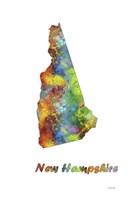 New Hampshire State Map 1 Fine Art Print
