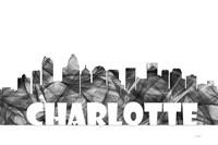 Charlotte NC Skyline BG 2 Fine Art Print