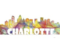 Charlotte NC Skyline Multi Colored 2 Fine Art Print