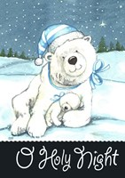 Polar Bear Holy Night Fine Art Print