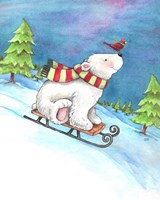 Polar Bear and Sled Fine Art Print