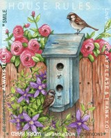 Sparrow House Rules Fine Art Print