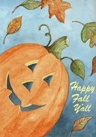 Pumpkin Happy Fall Y'all Fine Art Print