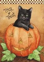 Trick Or Treat Black Cat Fine Art Print