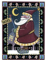 Apple Santa Noel Fine Art Print