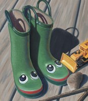 Apple Frog Boots Fine Art Print