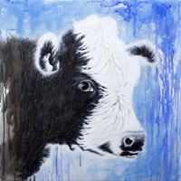 Black and White Cow Fine Art Print