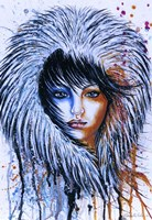 Fire and Ice Girl Portrait Fine Art Print