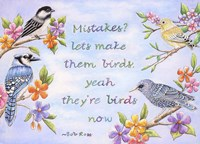 Birds and Flowers Quote Fine Art Print