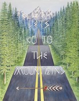 Mountain Travel Quote Fine Art Print