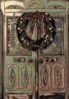 Christmas Door Card Fine Art Print