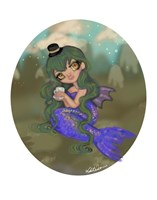 Emerald Mermaid Fine Art Print