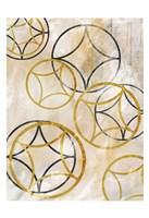 Brown Sparkling Spheres 1 Fine Art Print