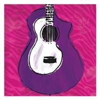 Girls Rule Guitar Zoom Fine Art Print