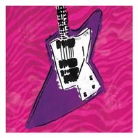 Girls Rule Guitar Zoom Mate Fine Art Print