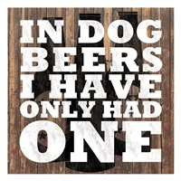 Dog Beers Fine Art Print