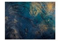 Golden Blue Marble Fine Art Print