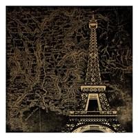 Eiffel Map Fine Art Print