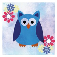 Retro Owl 2 Fine Art Print