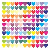 Groovy Love Pattern 2 Fine Art Print