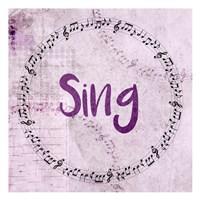 Music Sing Fine Art Print