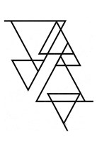 White Triangle Fine Art Print