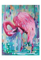 Flamingo In The Natural 1 Fine Art Print