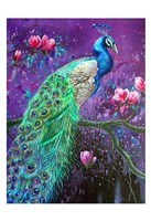 Botanical Peacock 1 Fine Art Print