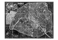 Paris Map BW Fine Art Print