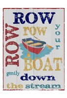 Row Row Fine Art Print