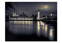 London Duotone Parliament Fine Art Print
