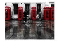London Phone Booths People Fine Art Print