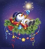 Resting Snowman Fine Art Print