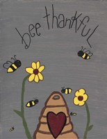 Bee Thankful Fine Art Print
