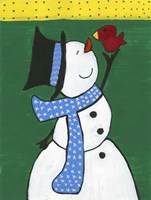 Snowman Smile Fine Art Print