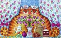 Tea Cats Fine Art Print