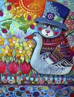 Cat with Goose Fine Art Print
