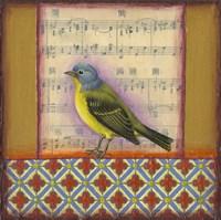 Bird on Musical Notes 2 Fine Art Print