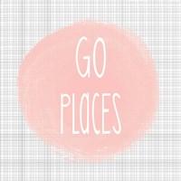 Go Places - Blush Pink Fine Art Print