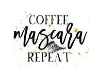 Coffee Mascara Repeat Fine Art Print