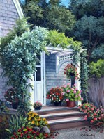 Gray House Arbor Fine Art Print