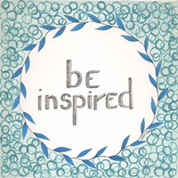 Be Inspired Swirls Fine Art Print