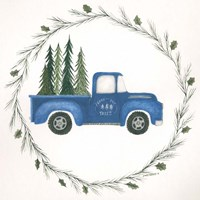 Old Blue Truck Fine Art Print
