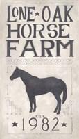 Lone Oak Horse Farm Fine Art Print