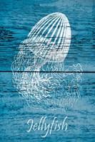 Blue Wood Jellyfish Fine Art Print