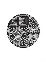 Boho Black and White Ball Fine Art Print