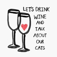 Wine and Cats Fine Art Print