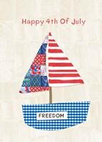 4th of July Boat Fine Art Print