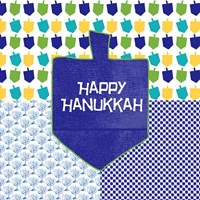 Happy Hanukkah II Fine Art Print